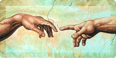 Michaelangelo Hand Painting